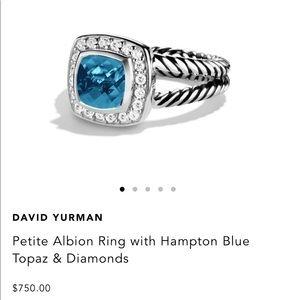 AUTHENTIC David Yurman Petite Albion Hampton Blue